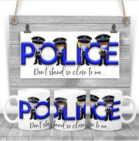 """POLICE - """"Don't stand so close to me"""" Mug. A thank you gift for the police"""