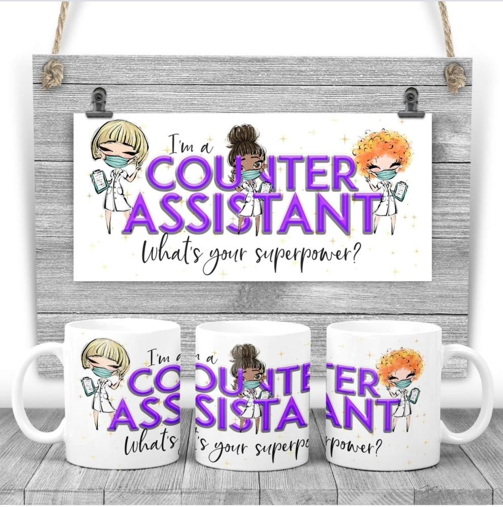 COUNTER ASSISTANT Mug - I am a COUNTER ASSISTANT  what's your superpower? S