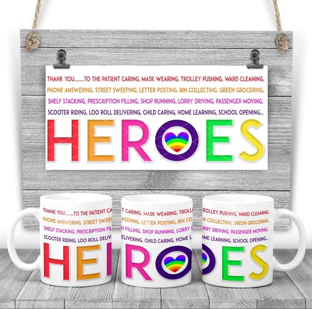 """HEROES"" rainbow mug gift"