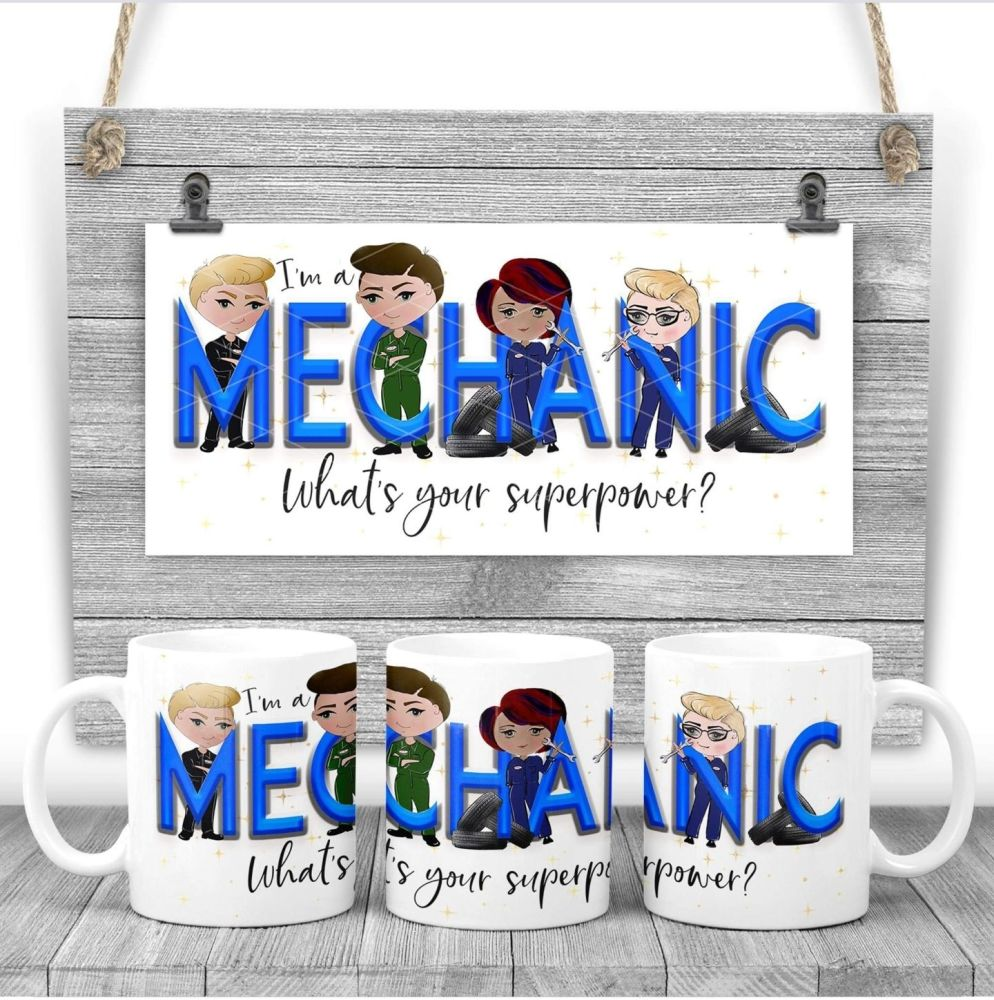 Mechanic Mug - I am a MECHANIC what's your superpower? Say thank you mug gift