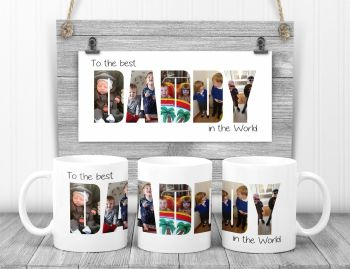 DAD / DADDY photo mug. Personalised with your photos.