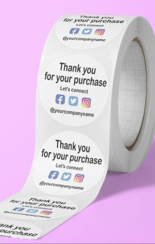 Thank you for your order. Let's connect stickers. Social media stickers