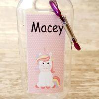 Unicorn hand sanitiser gel 50ml bottle - personalised