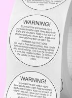 Warning sticker - candle warning stickers