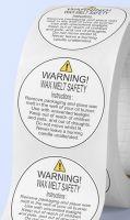 Warning sticker - wax melts warning stickers