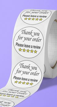 Thank you for your order. Please leave a review stickers