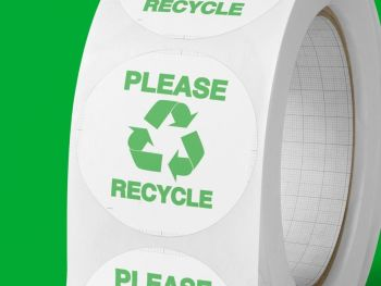 "Recycling stickers ""Please Recycle"" . Labels for envelopes"