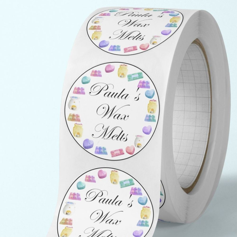 Wax melts stickers - personalised wax melt stickers - melts frame