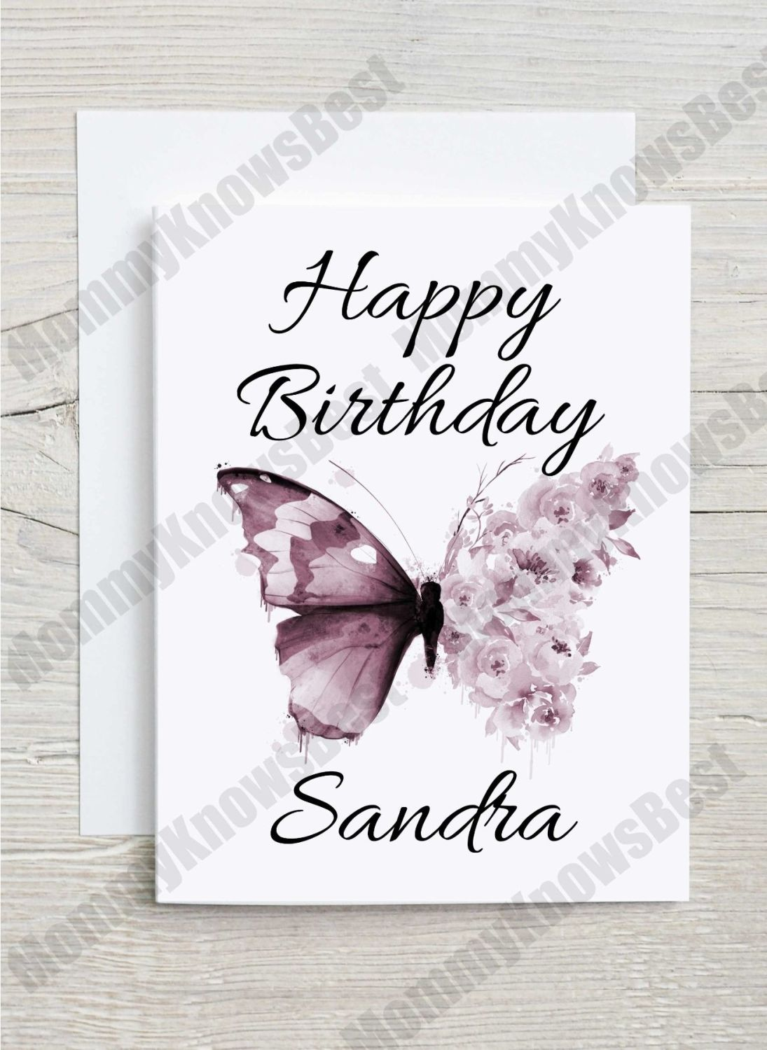 Butterfly greetings card - happy birthday