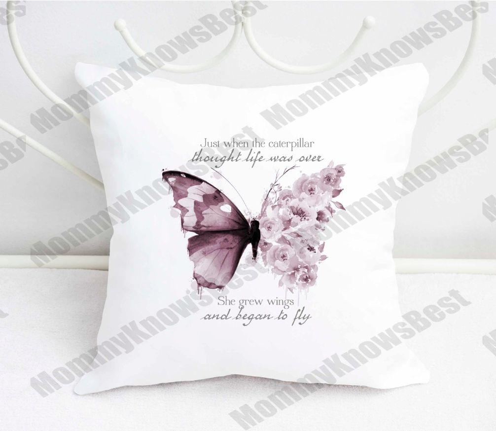 Butterfly motivational cushion