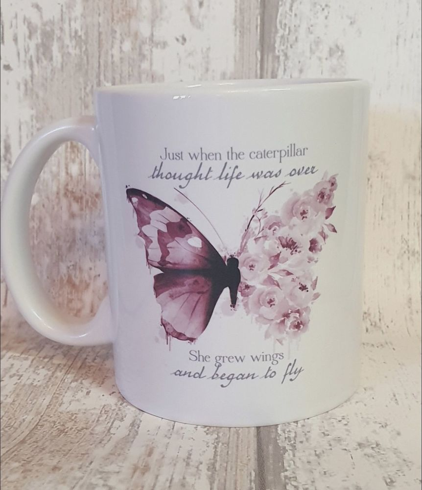 Butterfly motivational Mug