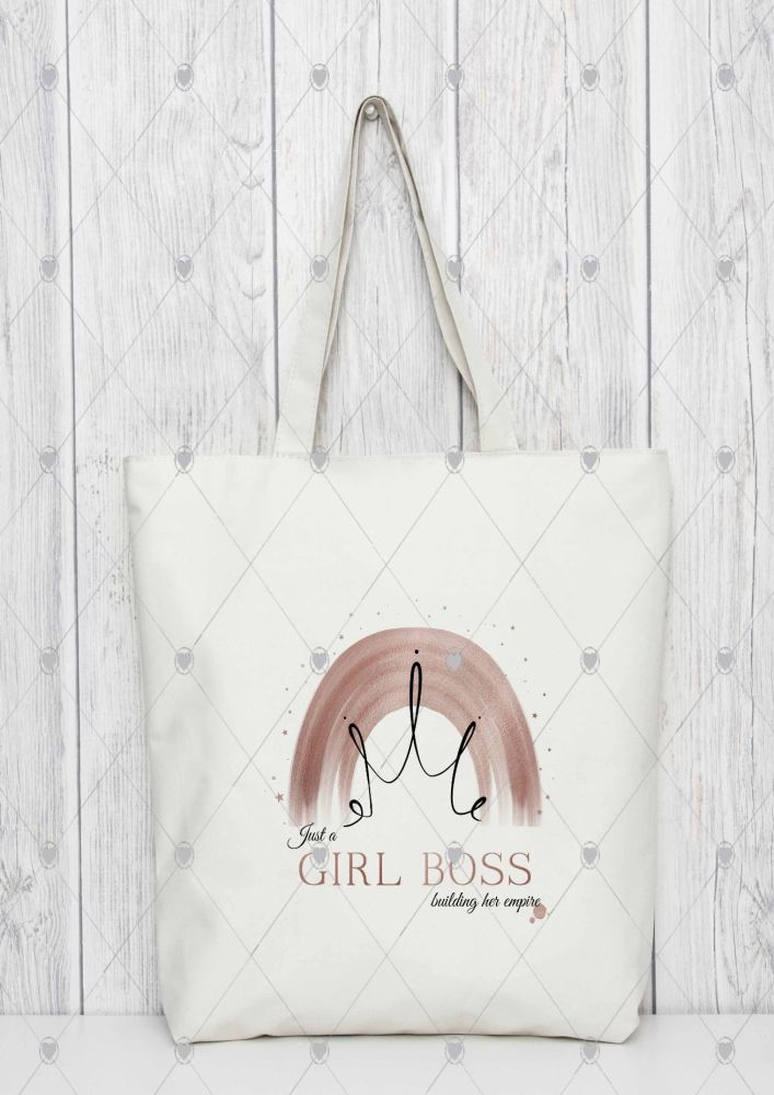 "Boss girl Tote bag   ""just a BOSS GIRL building her empire"""