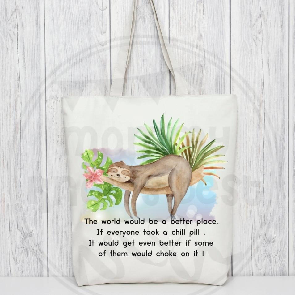 Sarcastic tote bag. Bag for life.