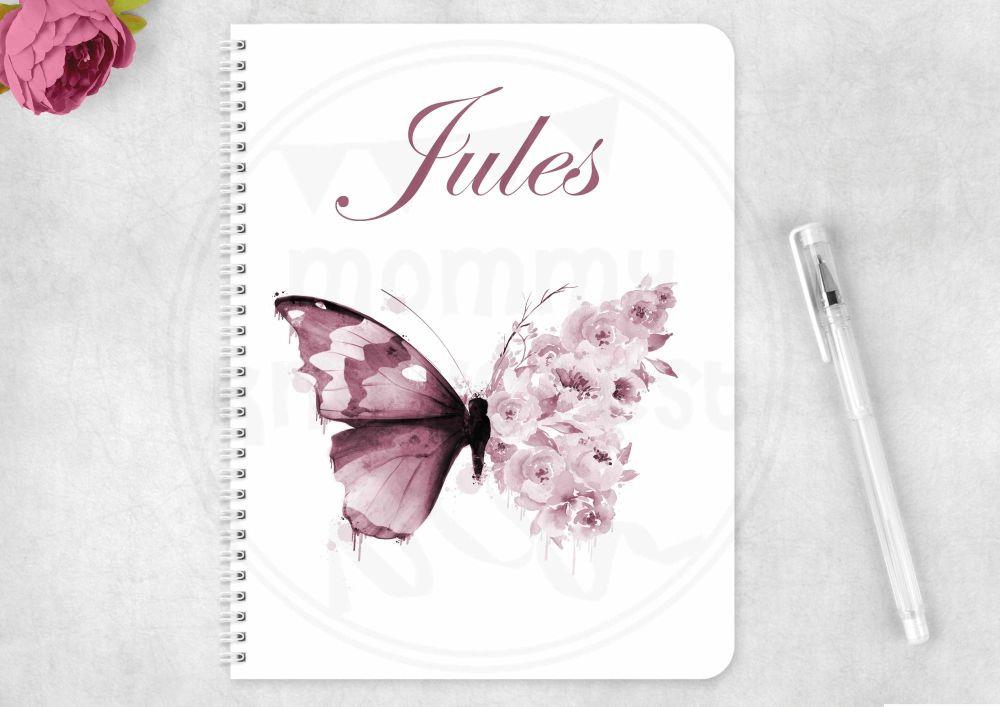 Notebook - motivational butterfly notepad