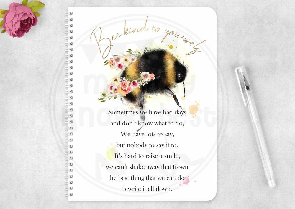 Notebook - motivational bee notepad