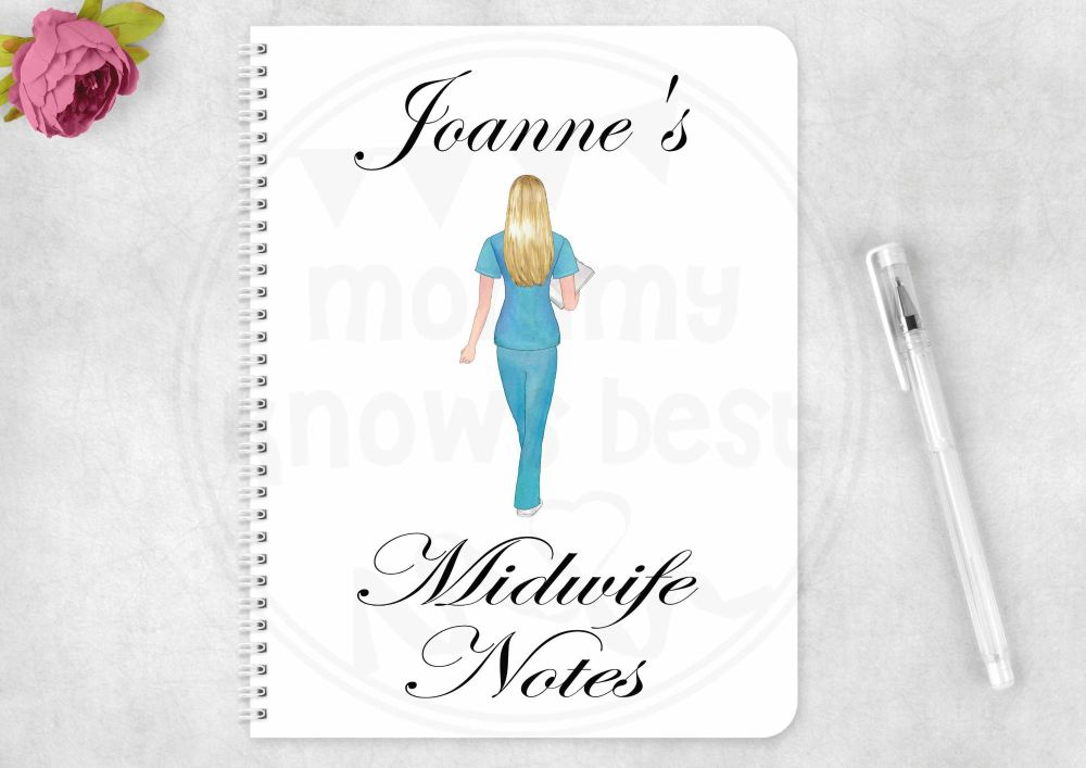 Notebook - personalised midwife note book