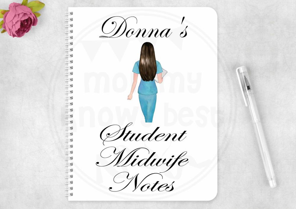 Notebook - personalised Student Midwife note book