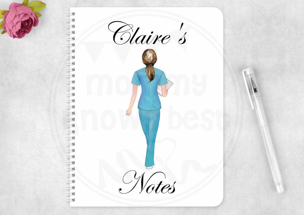 Notebook - nurse note book, personalised