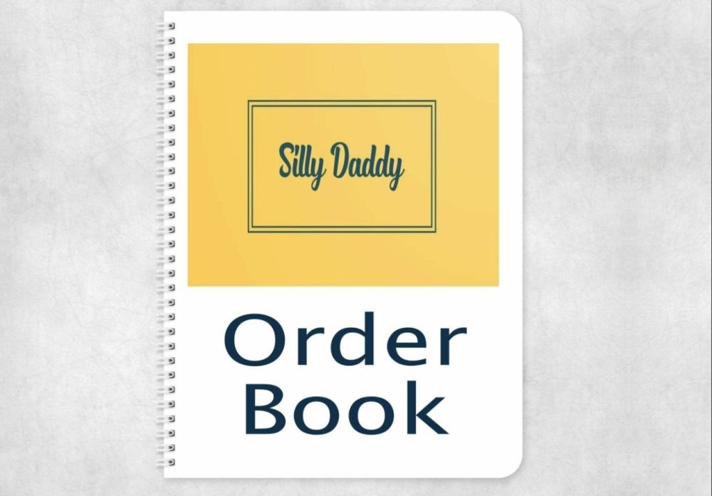 Notebook - Personalised order book. One or two orders per page