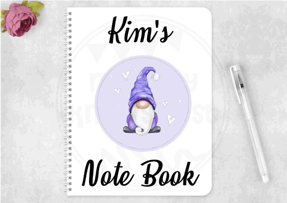 Notebook - purple Gonk notepad - personalised