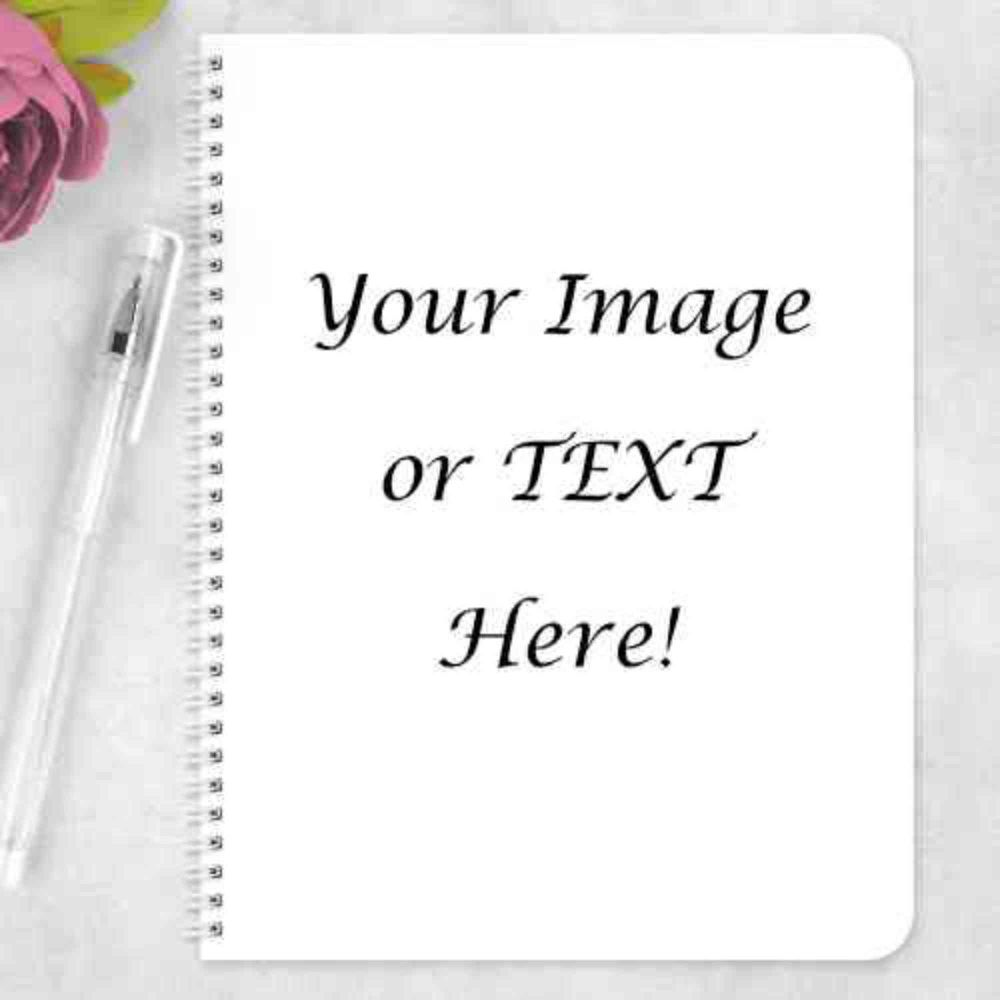 Any Wording or Text Notebook - Eco Friendly