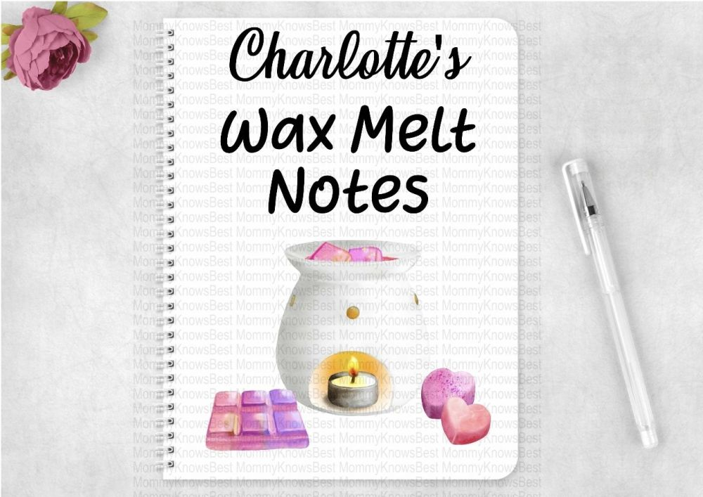 Wax melt notes eco friendly notebook - personalised