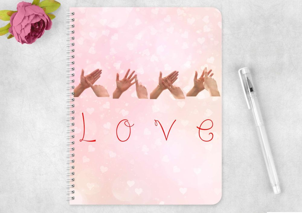 Sign Language LOVE eco friendly notebook