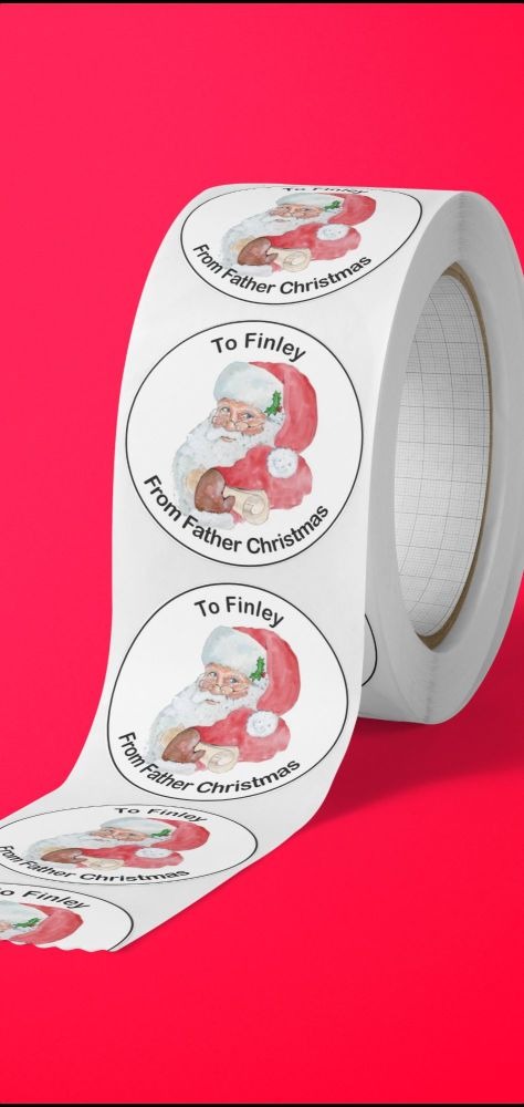 From Father Christmas personalised stickers