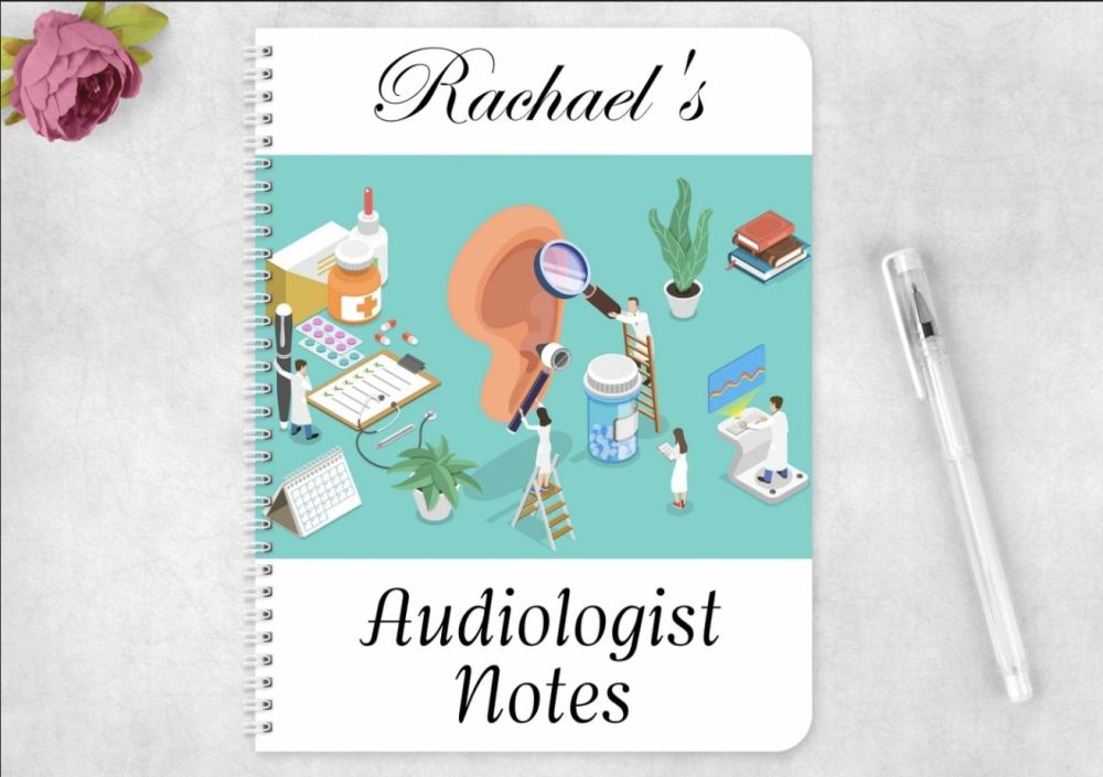 Audiologist note book, personalised audiology journal