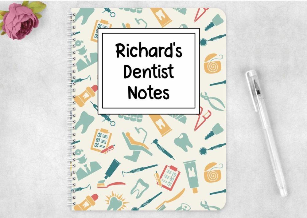 Dentist note book, personalised dentistry journal