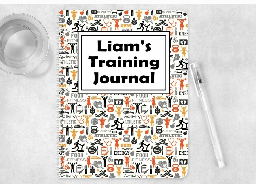 Training note book, personalised gym journal