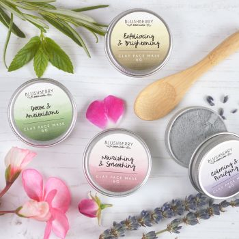 Four Travel Tins Clay Face Mask or Scrubs