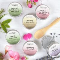Six Travel Tins Clay Face Mask or Scrubs