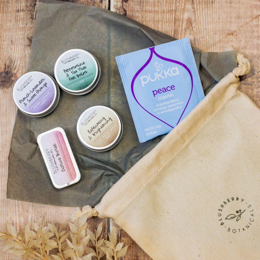 Mini Pamper Gift Set With Cotton Gift Bag