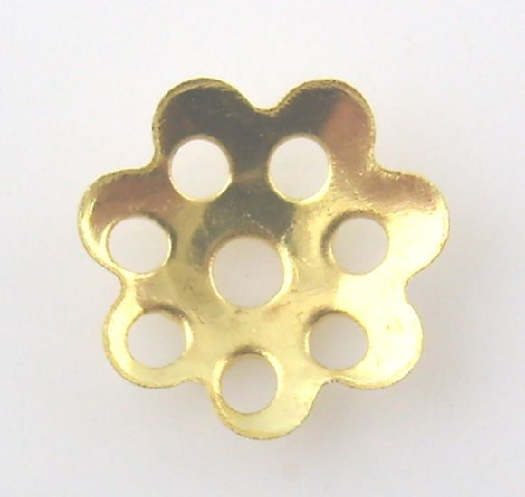 8mm Gold Plated Bead Caps