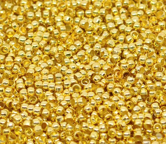 Gold Plated 2mm Crimp Beads