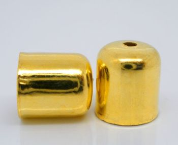 Gold Plated Blunt Bead Caps 8x7mm