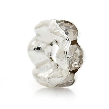Rondelle Spacer Beads Silver Plated 6mm