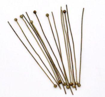 Antique Bronze Ball Head Pins 50mm