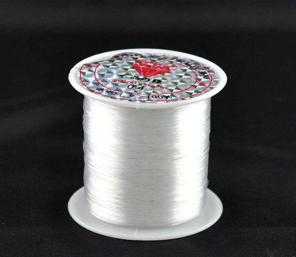 Clear Beading Strong Cord 0.4mm x 70m Nylon Filament