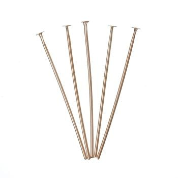 Rose Gold Plated Head Pins 30mm