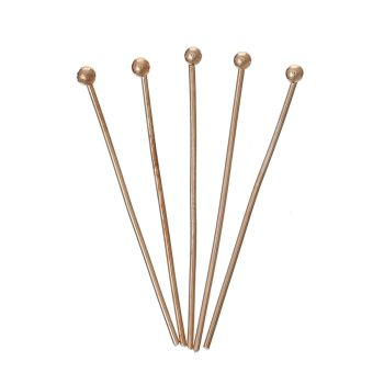 Rose Gold Plated Ball Head Pins 30mm