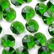 Fern Green Octagon Bead 14mm