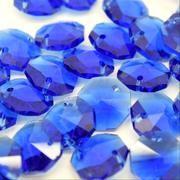 Sapphire Octagon Bead 14mm