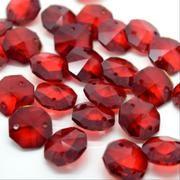 Deep Red Octagon Bead 14mm