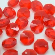 Red Octagon Bead 14mm
