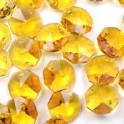 Yellow Octagon Bead 14mm