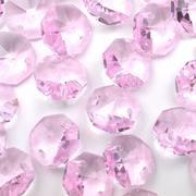 Pink Octagon Bead 14mm