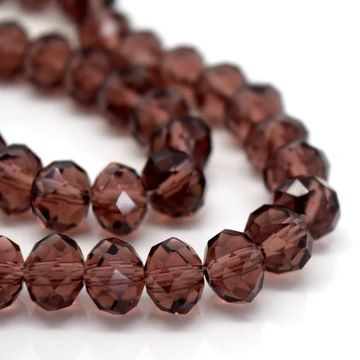 Amethyst Faceted Rondelle Bead - From £1.50 per string