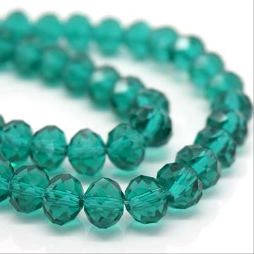Emerald Faceted Rondelle Bead